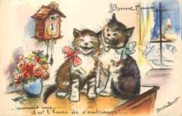 Germaine Bouret - Bonne Année - Chats Minuit Une St Sylvestre - Bouret, Germaine