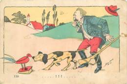 Illustrateur Xavier Sager - Chasseur Et Son Chien - Mars 1907 - Sager, Xavier