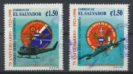 °°° EL SALVADOR - Y&T N°1371/72 - 1998 °°° - El Salvador