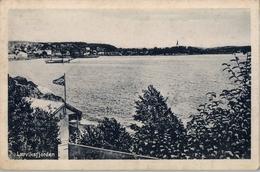 1920 , NORUEGA , TARJETA POSTAL CIRCULADA , LARVIK - VIENA , LARVIKSFJORDEN - Noruega