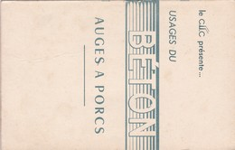 LA C.I.I.C.  PRESENTE  :  USAGES Du BETON ,,,,AUGES A  PORCS,,,, - Planches & Plans Techniques