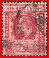 SIERRA LEONE SELLO AÑO 1912-24 KING EDWARD VII - Sierra Leona (1961-...)