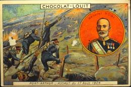 Chromo & Image > Chromo > - CHOCOLAT LOUIT - Port-Arthur Assaut Du 17 Août 1904 - En TB. état - Louit