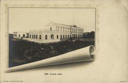 Peru, LIMA, Escuela Militar, Military School (1899) RPPC Postcard - Peru