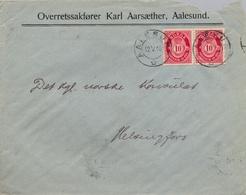 1918 , NORUEGA , SOBRE COMERCIAL CIRCULADO , AALESUND - HELSINGFORS, LLEGADA AL DORSO - Noorwegen