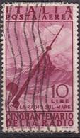 Repubblica Italiana, 1947 - 10 Lire Radio, Fil. R1 - Pos. DA -  Nr.14 Usato° - 6. 1946-.. Repubblica