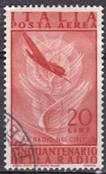 Repubblica Italiana, 1947 - 20 Lire Radio, Fil. R1 - Pos. SB -  Nr.15 Usato° - 6. 1946-.. Repubblica