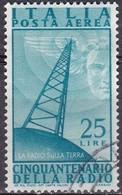 Repubblica Italiana, 1947 - 25 Lire Radio, Fil. R1 - Pos. SB -  Nr.16 Usato° - 6. 1946-.. Repubblica