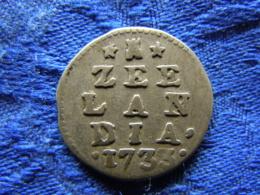 NETHERLANDS ZEELAND 2 STUIVERS 1733, KM59 - [ 1] …-1795 : Période Ancienne