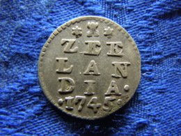 NETHERLANDS ZEELAND 2 STUIVERS 1745, KM59 - [ 1] …-1795 : Période Ancienne