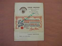 Curzon-Brothers Londres - Paris Catalogue 16 Pages 185X250 Très Belles Photos Pas De Date Vers 1920/30 - Textile & Clothing
