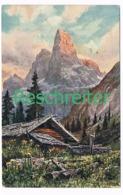 524 Reschreiter Hütte Berge Dolomiten Künstlerkarte - Bolzano (Bozen)