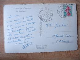 Rouvre Recette Auxiliaire Obliteration Sur Lettre - Marcophilie (Lettres)