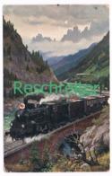525 Reschreiter Der Heimat Entgegen Dolomiten Künstlerkarte - Bolzano (Bozen)