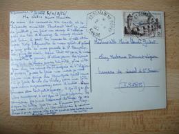 Saint Romain De Popey Recette Auxiliaire Obliteration Sur Lettre - Marcophilie (Lettres)