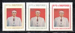 XP3993 - ALBANIA 1983 , Yvert Serie N. 1988/1990  ***  Enver Oxha - Albania