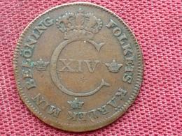 SUEDE Monnaie De 1/2 Skilling 1821 - Suède