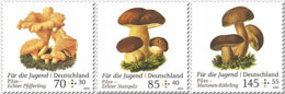 BRD GERMANY 2018 **MNH Mushrooms Pilze Champignons Für Die Jugend 3v - OFFICIAL ISSUE - DH1902 - Neufs
