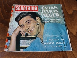 SONORAMA N°39 Avril 1962 Gilbert Becaud Evian Paris Alger - Autres