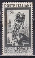 Repubblica Italiana, 1951 - 25 Lire Ciclismo, Fil. R1 - Pos. SA -  Nr.160 MLH* - 6. 1946-.. Repubblica