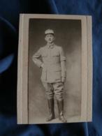 Photo CDV Roberts Rue Du Havre Paris  Militaire : Lieutenant  Brassard Aviateur  Ap. 1900 - L406 - Guerre, Militaire