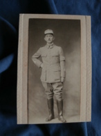 Photo CDV Roberts Rue Du Havre Paris  Militaire : Lieutenant  Brassard Aviateur  Ap. 1900 - L406 - War, Military