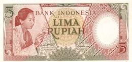 Indonesia P.55 5 Rupiah 1958  Unc - Indonesia