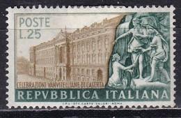 Repubblica Italiana, 1952 - 25 Lire Vanvitelli, Fil. R1 - Pos. ND -  Nr.179 MLH* - 6. 1946-.. Repubblica