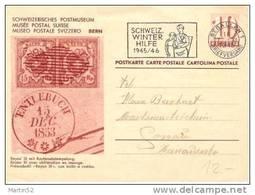 "Schweiz Suisse 1945: POSTMUSEUM MUSÉE POSTALE ""RAYON III O ENTLEBUCH 15.DEC.1853""  Mit O ST.GALLEN 7.XI.1945 - Sellos Sobre Sellos"