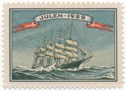 Denmark 1922, Julemaerke, Christmas Stamp, Vignet, Poster Stamp - Danimarca