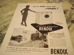 ANCIENNE  PUBLICITE  MACHINE A LAVER  BENDIX 1951 - Publicité