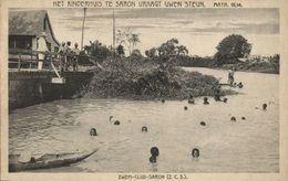 Suriname, PARAMARIBO, Swimming Club Saron, Child's Home (1920s) Mission Postcard - Surinam