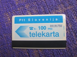 Autelca Magnetic Phonecard,100 Imp.,used - Slovenia