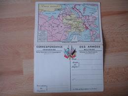 Carte  Franchise Postale Militaire Guerre 14.18 Carte  Europe Centrale Et Front Des Flandres - Marcophilie (Lettres)