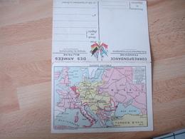 Carte  Franchise Postale Militaire Guerre 14.18 Carte  Europe Centrale Et Front Artois Picardie - Marcophilie (Lettres)
