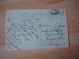 Cannes Hopital Belge Cachet Franchise Postale Militaire Guerre 14.18 - Marcophilie (Lettres)