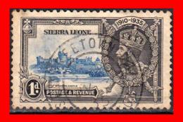 SIERRA LEONE STAMP 1935 1D JUBILEE VIGNETTE SHIFTED - Sierra Leona (1961-...)