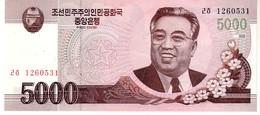 North Korea P.66 5000 Won 2009 Unc - Corée Du Nord