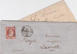 LETTRE.  1860. DROME VALENCE PC 3471 POUR LAVOULTE - Storia Postale