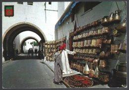 CP Komaroc N° 52-Maroc ,Casablanca -Medina-Errajraji Bazar - Marchands