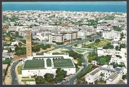 CP Photo ITTAH 179-Maroc-RABAT- Vue Aérienne : Grande Mosquée-Avenue Mohammed V - Islam