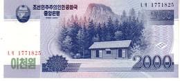 North Korea P.65   2000 Won 2009 Unc - Corea Del Nord