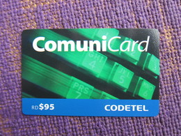 Comuni Card Prepaid Phonecard,RD$95, Used - Dominicaanse Republiek