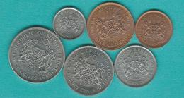 Sierra Leone - 1980 & 1984 - ½, 1, 5, 10, 20 & 50 Cents (KMs 25, 30-34) - Sierra Leone