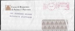 STORIA POSTALE REPUBBLICA - AFFRANCATURA MECCANICA ROSSA BANCA 30.10.1996 SU BUSTA COMMERCIALE DA MILANO - Affrancature Meccaniche Rosse (EMA)