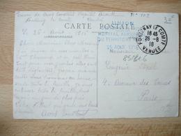 Fontenay Le Comte Hopital Auxiliaire Territoire Cachet Franchise Postale Guerre 14.18 - Poststempel (Briefe)