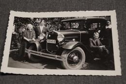 Photo Ancienne Voiture,Voiture, Fin Des Années 20: Ford, Type A, Vieux Tacot,12 Cm. Sur 7,5 Cm. - Cars