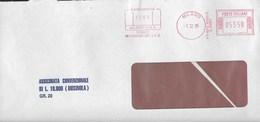 STORIA POSTALE REPUBBLICA - AFFRANCATURA MECCANICA ROSSA BANCA 01.12.1995 SU BUSTA ASSICURATA DA MILANO ISOLA - Affrancature Meccaniche Rosse (EMA)