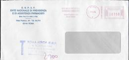 STORIA POSTALE REPUBBLICA - AFFRANCATURA MECCANICA ROSSA E.N.P.A.F.  17.05.1994 SU BUSTA TASSATA - Affrancature Meccaniche Rosse (EMA)