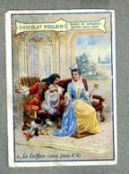 Chromo Poulain Coiffure Sous Louis XIV Hairstyle Mode Fashion Vintage Trade Card - Poulain